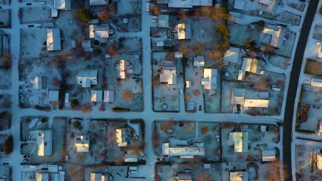 空中写真、ヴィラエリア、冬の日 - village点の映像素材/bロール