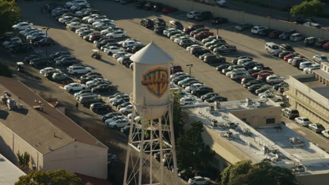 aerial view warner bros film studio los angeles - warner bros. stock videos & royalty-free footage