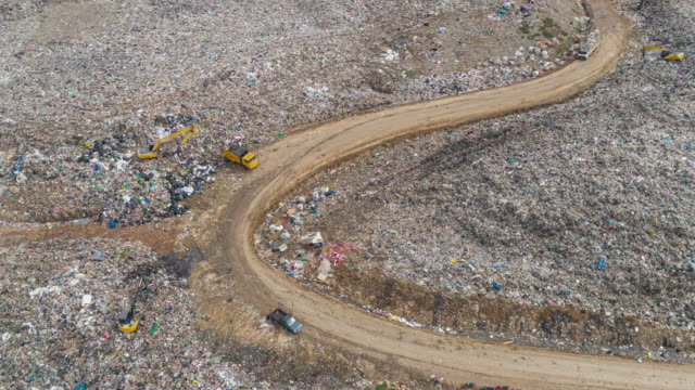 Aerial view Waste Management for Environment Reservation.