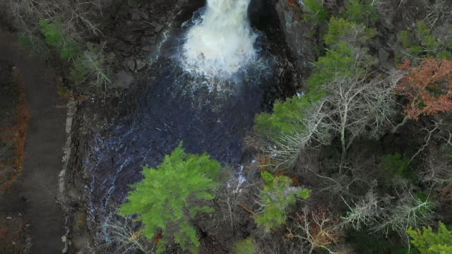 aerial view waterfall - named wilderness area stock videos & royalty-free footage