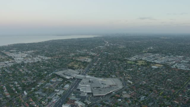 stockvideo's en b-roll-footage met aerial view westfield southland over nepean highway melbourne - shopping centre