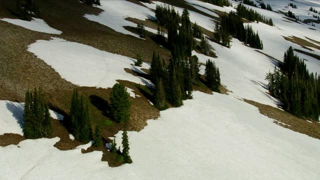 aerial view wilderness area grand teton mountain range - mt moran stock videos & royalty-free footage