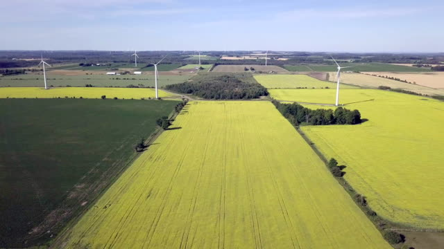 aerial view wind farm alternative energy - traditionally canadian stock videos & royalty-free footage
