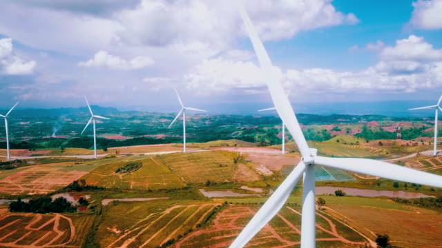 aerial view wind turbine - stubble stock videos & royalty-free footage