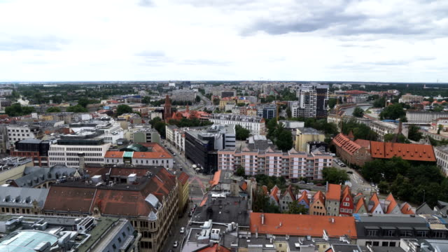 aerial view: wroclaw city, poland - eastern european culture stock videos & royalty-free footage