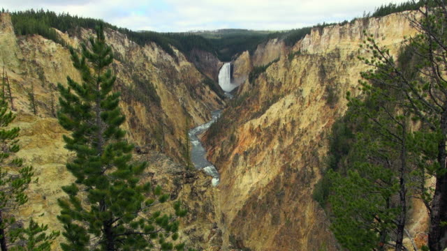 Aerial View: Yellowstone's Grand Canyon And Falls