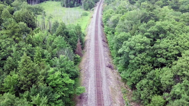 aerial view:aerial railway - railway track stock videos & royalty-free footage