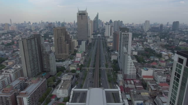 aerial view:bangkok city view - flatiron building manhattan stock videos and b-roll footage