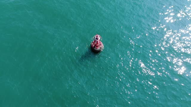 aerial view/buoyancy in the sea symbol of the sea route - direction stock videos & royalty-free footage