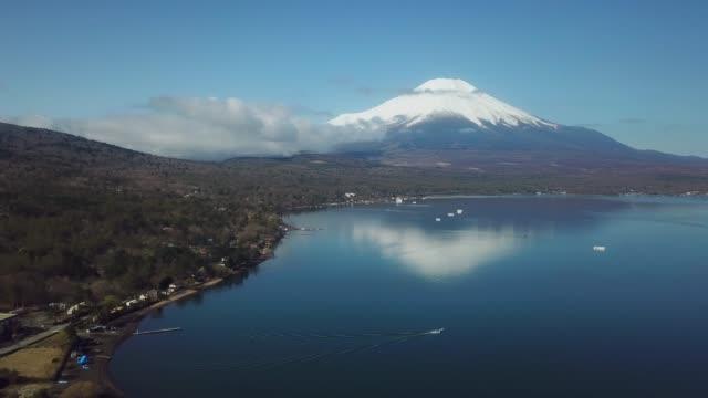 aerial view:mt.fuji - mt fuji stock videos & royalty-free footage