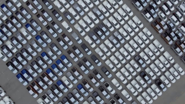 Aerial view:new cars for sale