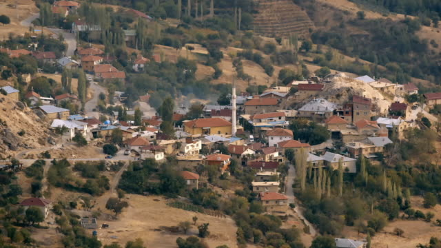 aerial views of a valley in turkey - minareto video stock e b–roll