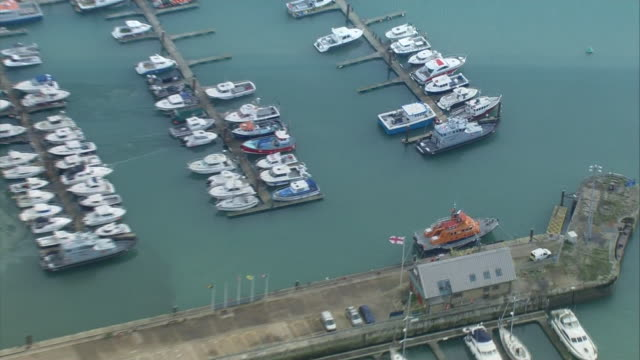 aerial views of border control at dover - cliff stock videos & royalty-free footage
