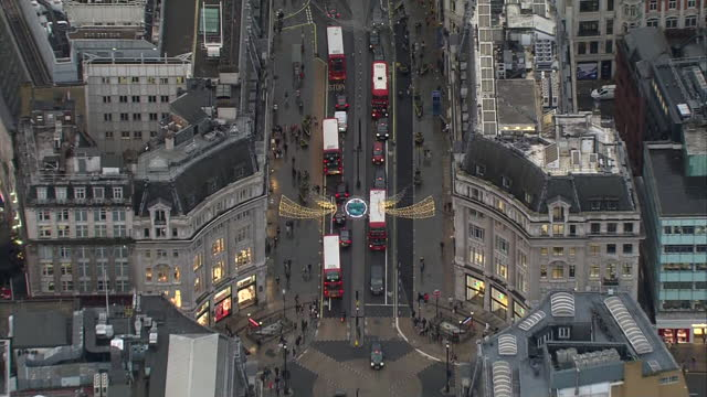 aerial views of central london at christmas - day stock videos & royalty-free footage