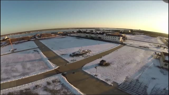 aerial views of coast guard training center cape may nj the service's only enlisted basic training facility show the remnants of a spring snowstorm... - coast guard stock videos and b-roll footage