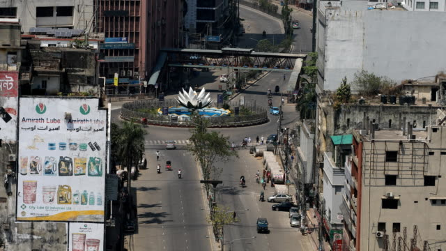 aerial views of dhaka city during government-imposed lockdown as a preventive measure against the covid-19 coronavirus in dhaka, bangladesh on april... - dhaka stock videos & royalty-free footage