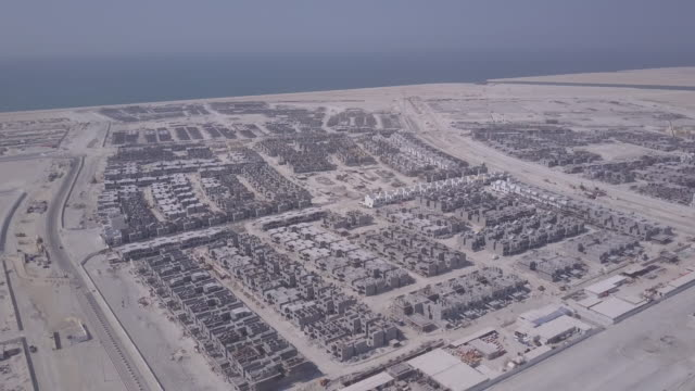 aerial views of diyar al muharraq a real estate development project. it is a complex of artificial islands located 10 kilometers northeast of the... - gulf countries stock videos & royalty-free footage