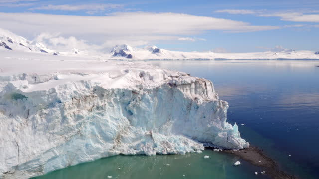 Aerial Views of Glaciers on Livingston Island, Antarctica