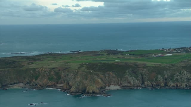 aerial views of guernsey one of the channel islands in the english channel - english channel stock videos & royalty-free footage