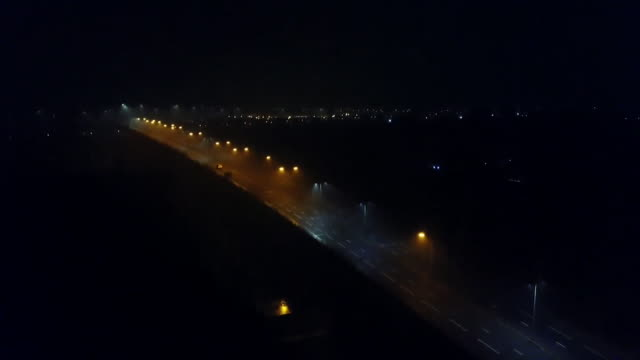 aerial views of hartlepool at night - county durham stock videos & royalty-free footage