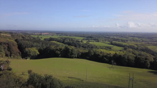 aerial views of herefordshire - rural scene stock videos & royalty-free footage