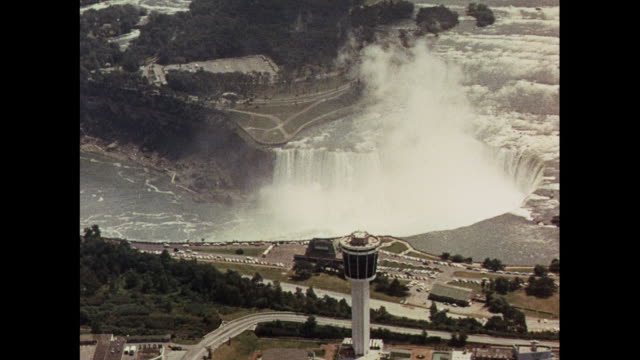 MONTAGE Aerial views of hydro-electric dams in Canada