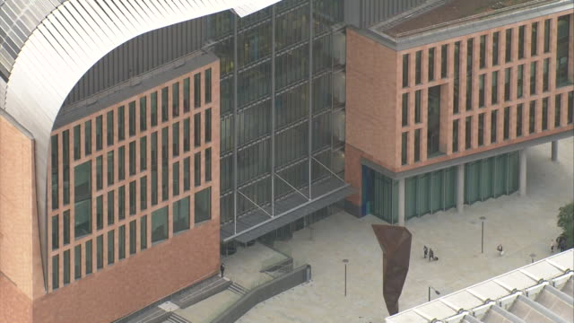 aerial views of interdisciplinary research centre the francis crick institute in kings cross london nnbz123b absa627d - francis crick stock videos & royalty-free footage