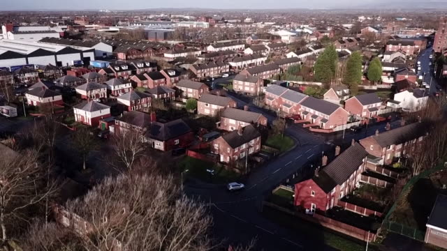 aerial views of leigh - house stock videos & royalty-free footage