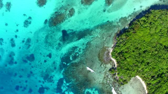 vidéos et rushes de aerial views of loh island, vanuatu - partie d'une série