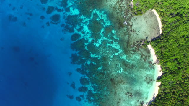 vídeos de stock, filmes e b-roll de aerial views of loh island, vanuatu - oceano pacífico do sul