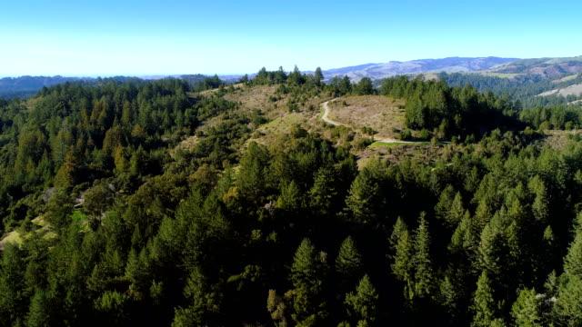 Aerial views of nature of North California