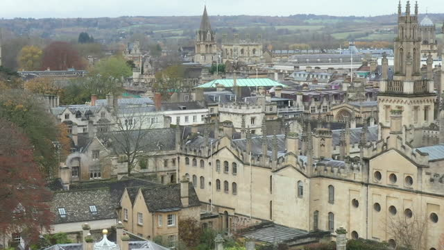 aerial views of oxford university - oxford university stock videos & royalty-free footage