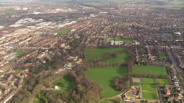 aerial views of rotherham - directly above stock videos & royalty-free footage