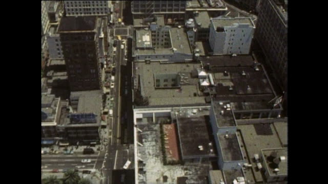 aerial views of san francisco's financial district; 1970 - oakland california stock videos & royalty-free footage