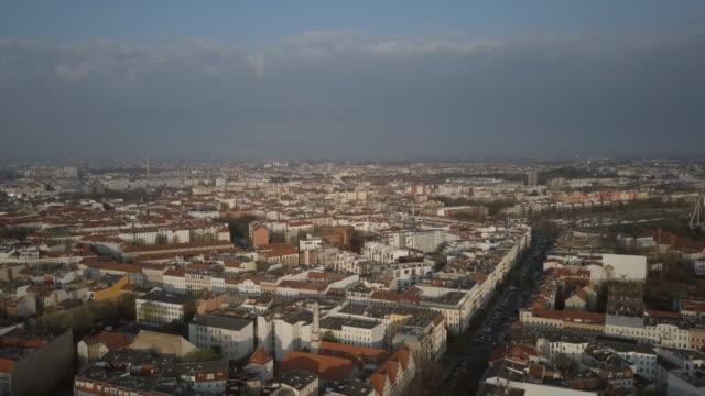aerial views of the berlin skyline - berlin stock videos & royalty-free footage