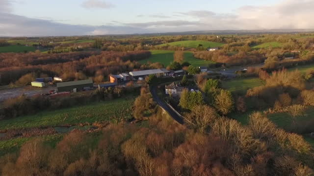 aerial views of the border between northern ireland and the republic of ireland on 1st december 2017 northern ireland - nordirland stock-videos und b-roll-filmmaterial