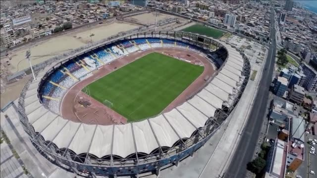 aerial views of the regional calvo y bascunan stadium which will host the copa america 2015 in antofagasta chile some 1200 km north of santiago - antofagasta region stock videos and b-roll footage