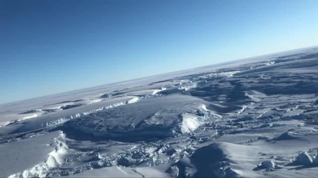 aerial views of thwaites glacier - antarctica drone stock videos & royalty-free footage