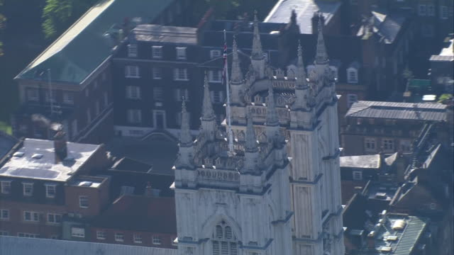 aerial views of westminster abbey on 4th november 2020 london, united kingdom. - westminster abbey stock videos & royalty-free footage