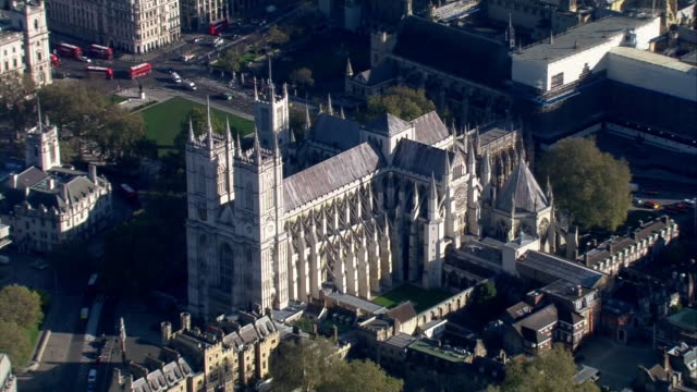 stockvideo's en b-roll-footage met aerial views of westminster abbey on 4th november 2020 london, united kingdom. - westminster abbey
