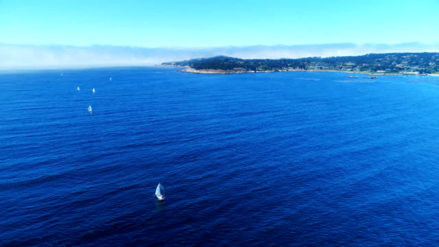 Aerial views on Carmel Bay