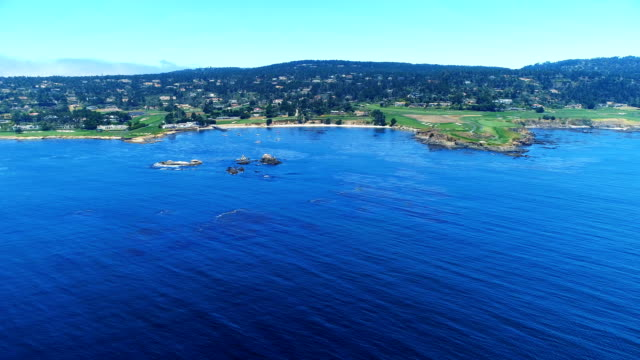 aerial views on carmel bay. - monterey county stock videos and b-roll footage