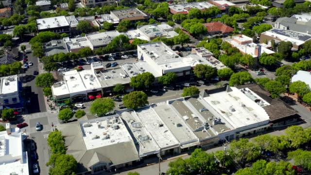 aerial views on los altos, california - silicon valley stock videos & royalty-free footage
