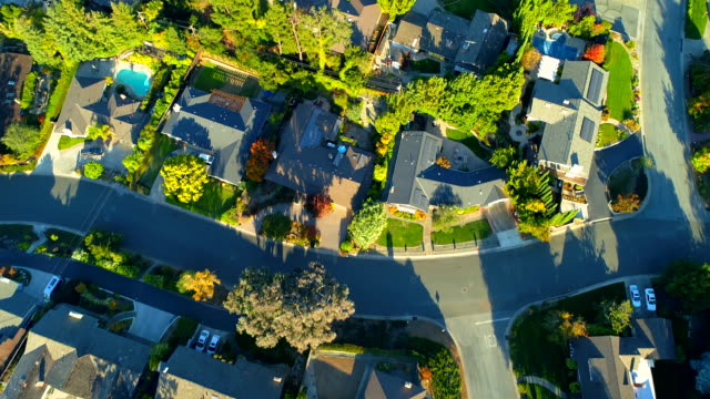 aerial views on silicon valley - home ownership stock videos & royalty-free footage