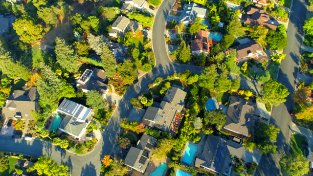 aerial views on silicon valley - housing difficulties stock videos & royalty-free footage