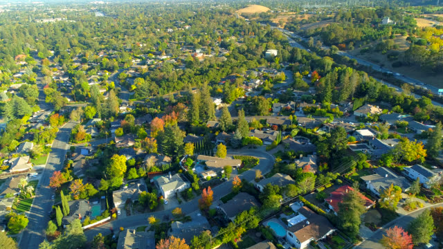 aerial views on silicon valley - northern california stock videos & royalty-free footage
