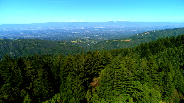aerial views on silicon valley - collina video stock e b–roll
