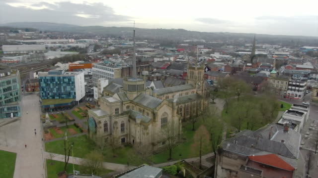 aerial views over blackburn - overhead view stock videos & royalty-free footage