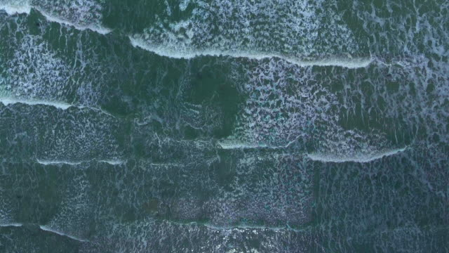 aerial view:sea water surface - wave pattern stock videos & royalty-free footage