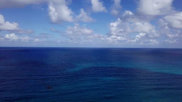 Vue aérienne vue: haut de la belle mer des Caraïbes. eau de mer turquoise.